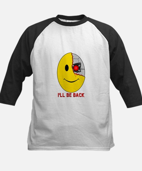 Terminator Smiley Face Kids Baseball Jersey