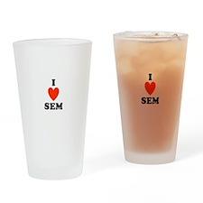 I love SEM Pint Glass