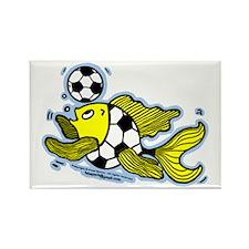 Football Fish Soccer Rectangle Magnet