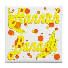 Hannah Banana Tile Coaster