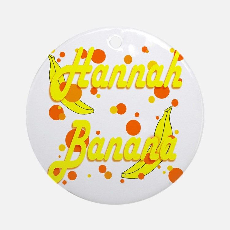 Hannah Banana Ornament (Round)