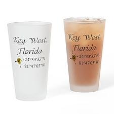Geocaching Key West, Florida Pint Glass