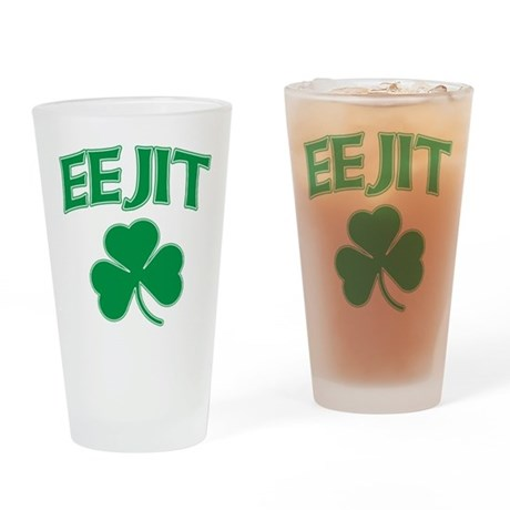 Eejit Irish Pint Glass