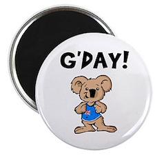 Australian Koala G'Day Round Magnet (10 pack)
