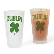 Dublin Irish Shamrock Pint Glass