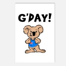 Australian Koala G'Day Postcards (Package of 8)