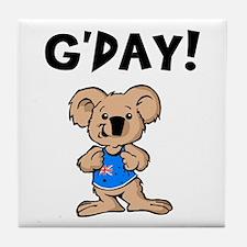 Australian Koala G'Day Tile Coaster