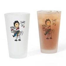 Cowboy Saddle Up Pint Glass