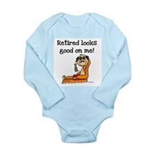Beach Retiree Long Sleeve Infant Bodysuit