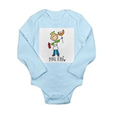 BBQ King Long Sleeve Infant Bodysuit