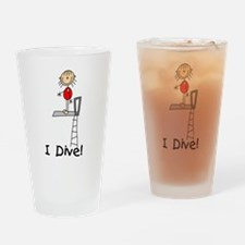 Girl I Dive Drinking Glass