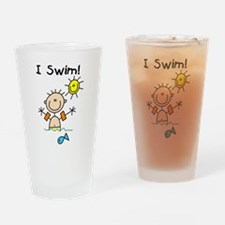 Boy I Swim Pint Glass