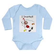 I Snorkel Long Sleeve Infant Bodysuit