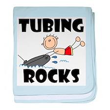 Tubing Rocks baby blanket