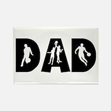Basketball Dad Rectangle Magnet