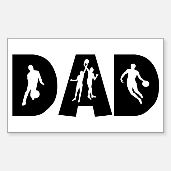 Basketball Dad Rectangle Decal