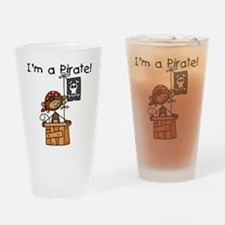 Monkey I'm a Pirate Pint Glass