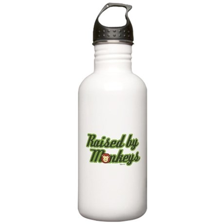 Raised by Monkeys Stainless Water Bottle 1.0L