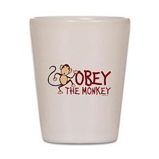 Obey The Monkey Shot Glass