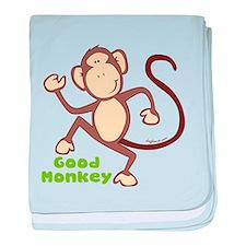 Good Monkey baby blanket
