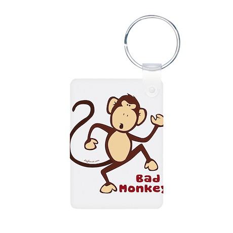 Bad Monkey Aluminum Photo Keychain