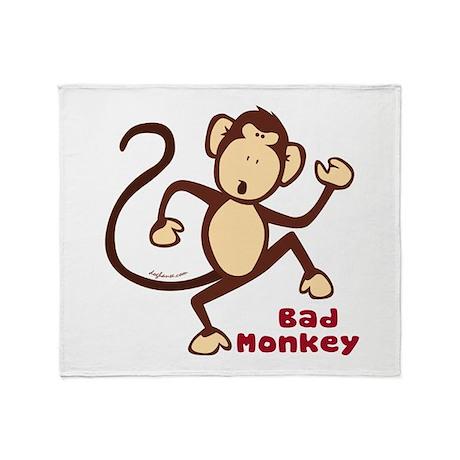 Bad Monkey Throw Blanket