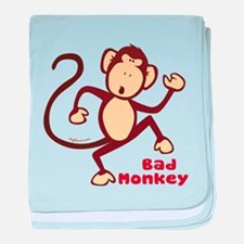 Bad Monkey baby blanket