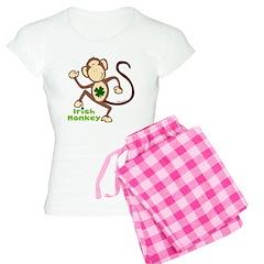 Shamrock Irish Monkey Pajamas