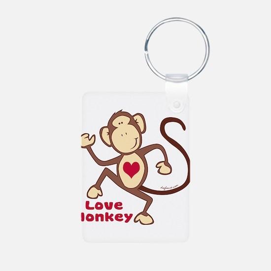 Love Monkey Heart Keychains