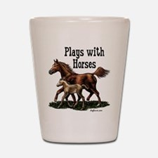 Plays with Horses Shot Glass