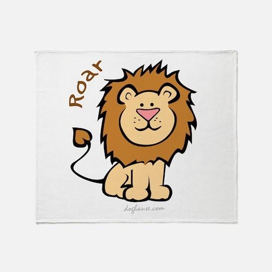 Roar (Lion) Throw Blanket