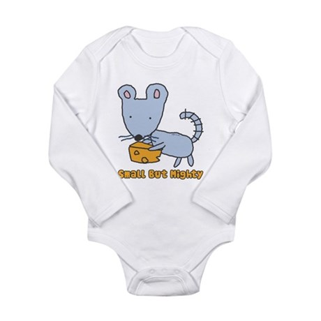 Small But Mighty Mouse Long Sleeve Infant Bodysuit