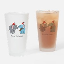 Elephant Christmas Pint Glass