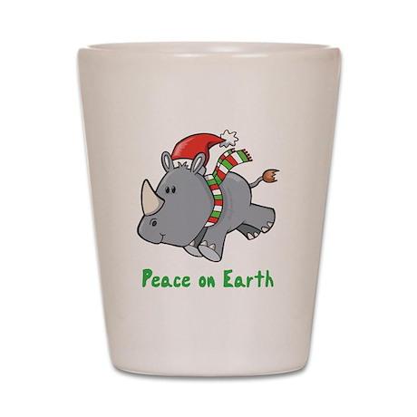 Peace Rhino Shot Glass