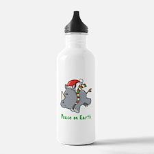 Peace Rhino Water Bottle