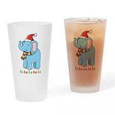Fa La La La La Elephant Pint Glass