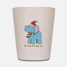 Fa La La La La Elephant Shot Glass