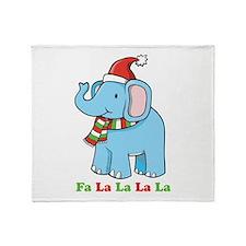 Fa La La La La Elephant Throw Blanket