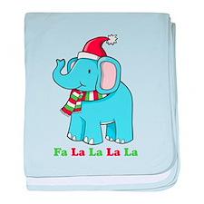 Fa La La La La Elephant baby blanket