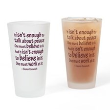 Work at Peace Pint Glass