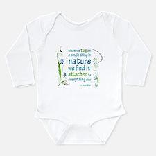 Nature Atttachment Long Sleeve Infant Bodysuit