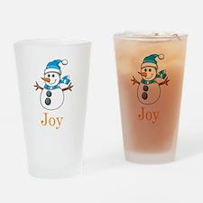 Snowman Joy Pint Glass