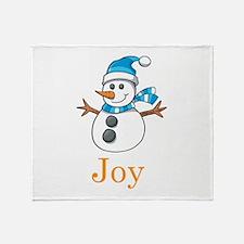 Snowman Joy Throw Blanket