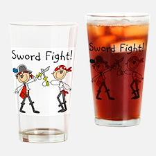 Pirate Sword Fight Pint Glass