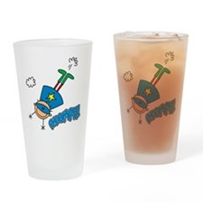 Boy Hero Flying Pint Glass