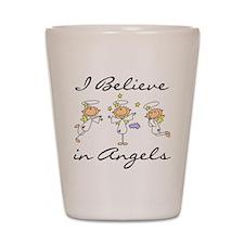 I Believe in Angels Shot Glass