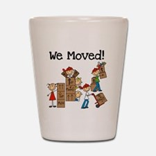 Unpacking We Moved Shot Glass