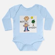 Best Daddy Long Sleeve Infant Bodysuit