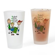 Reduce, Reuse, Recycle Pint Glass