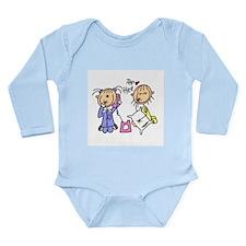 Sleepover on the Phone Long Sleeve Infant Bodysuit